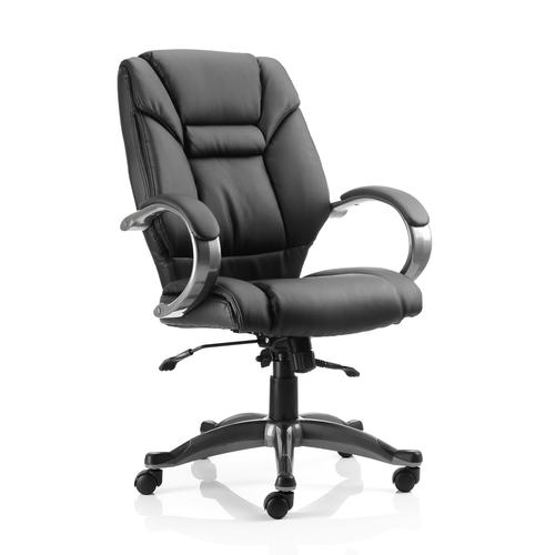 Trexus Galloway Executive Chair With Arms Leather Black Ref EX000134