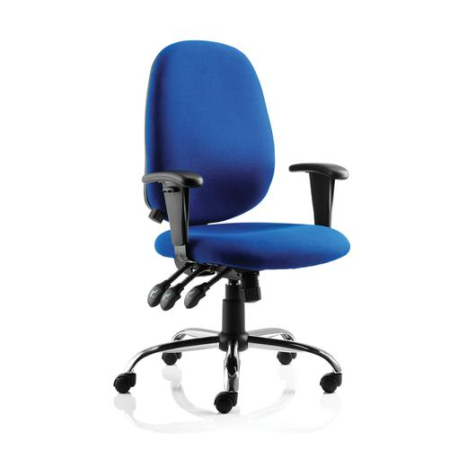 Sonix Lisbon Task Operator Chair With Arms Fabric Blue Ref OP000074