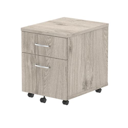 Trexus 2 Drawer Mobile Pedestal 430x500x510mm Grey Oak Ref I003223