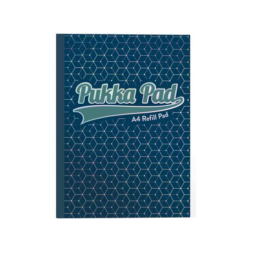 Pukka GLEE Refill Pad 400Pg 80gsm Sidebound A4 Dark Blue Ref 8891GLE [Pack 5]