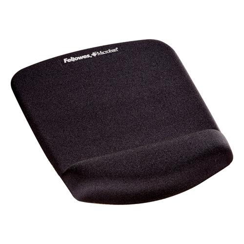Fellowes PlushTouch Mousepad Wrist Support Black- Microban 9252003