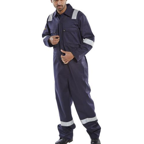 Click Fire Retardant Burgan Boilersuit Anti-Static Size 48 Navy Ref CFRASBBSN48 *Up to 3 Day Leadtime*