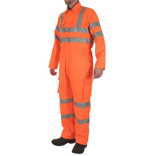 B-Seen Railspec Coveralls WIth Reflective Tape Size 56 Orange Ref RSC56 *Up to 3 Day Leadtime*