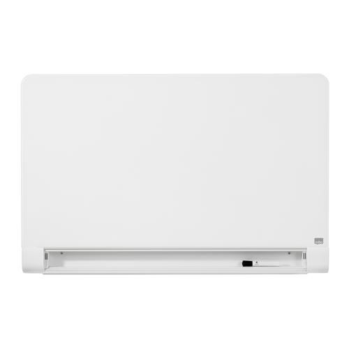 Nobo Widescreen 45 inch WBrd Gls Rnd Cnr Magn Scratch-Res Fixings Inc W1000xH560mm Brill Wht Ref 1905191