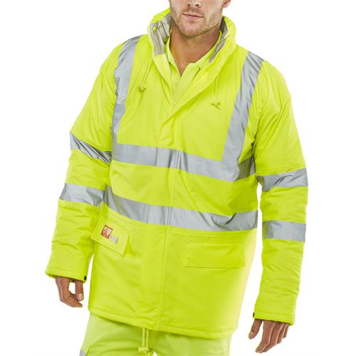 Click Fire Retardant Jacket Anti-static Large Saturn Yellow Ref CFRLR3456SYL *Up to 3 Day Leadtime*