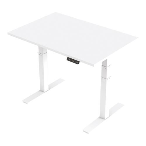 Trexus Sit Stand Desk Height-adjustable White Leg Frame 1200/800mm White Ref HA01029