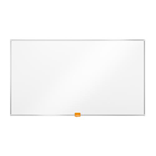 Nobo Widescreen 32 inch Whiteboard Melamine Surface Magnetic W710xH400 White Ref 1905291