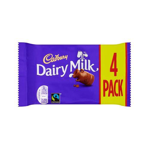 Cadbury Dairy Milk Bar Chocolate Bars Ref 4066186 [Pack 4]