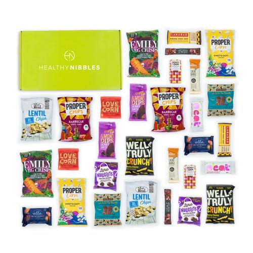 Healthy Nibbles Gluten Free 60 Piece Office Box Ref Gluten60 *Up to 2-3 Day Leadtime*