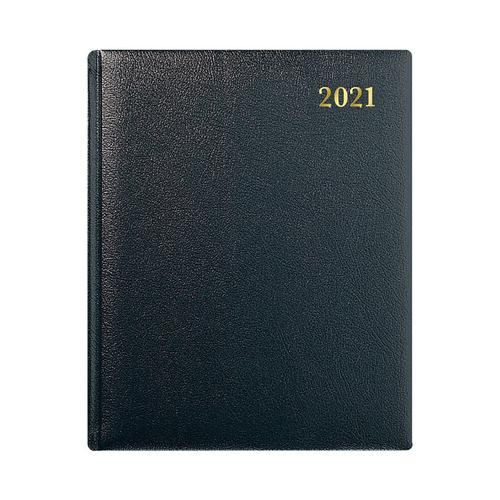 Collins 2021 Classic Business Quarto Diary Week to View Sewn Binding 190x260mm Black Ref QB7 2021