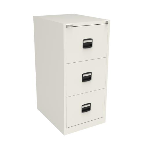 Trexus 3 Drawer Filing Cabinet 470x622x1016mm Chalk White Ref CC3H1A-ab9
