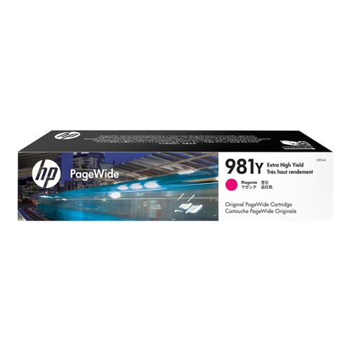 Hewlett Packard 981Y Pagewide Ink Cartridge Extra High Yield 16000pp 183ml Magenta Ref L0R14A
