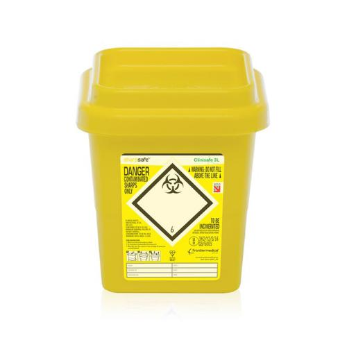 Click Medical Clinisafe Container 3Ltr Ref CM0639 *Up to 3 Day Leadtime*
