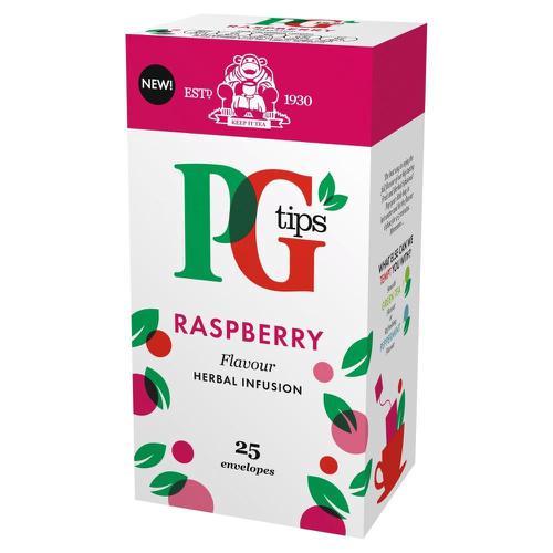 PG Tips Tea Bags Raspberry Enveloped Ref 49228801 [Pack 25]