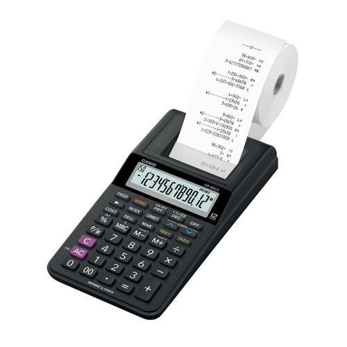 Casio Desktop Printing Calculator 12 Digit Display Black Ink Colour 102x82x239mm Black Ref HR-8RCE-BK