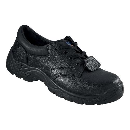 Rockfall ProMan Chukka Shoe Leather Steel Toecap Black Size 9 Ref PM102 9