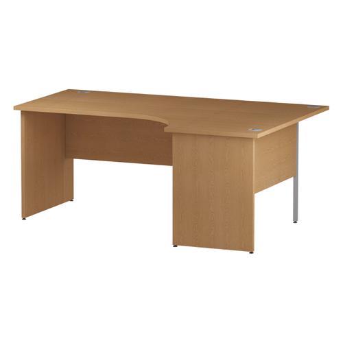 Trexus Radial Desk Right Hand Panel End Leg 1800/1200mm Oak Ref I000847