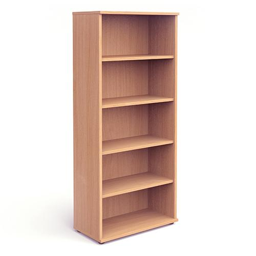 Trexus Office Very High Bookcase 800x400x2000mm 4 Shelves Beech Ref I000052