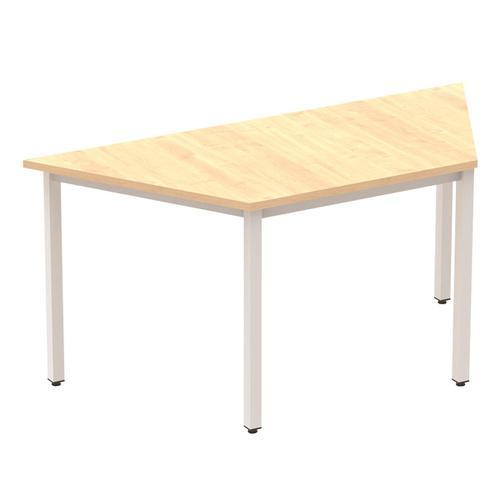 Trexus Trapezoidal Box Frame Silver Leg Table 1600x800mm Maple Ref BF00160