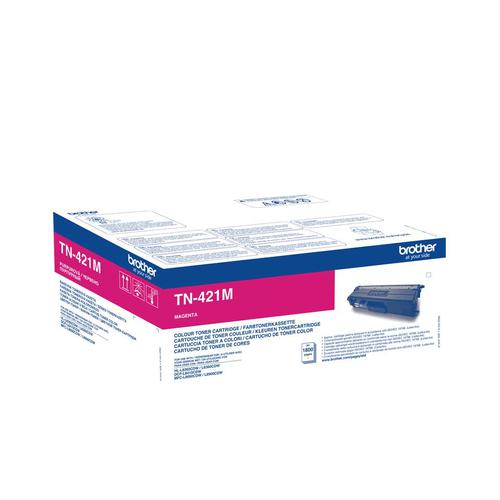 Brother TN421M Laser Toner Cartridge Page Life 1800pp Magenta Ref TN421M