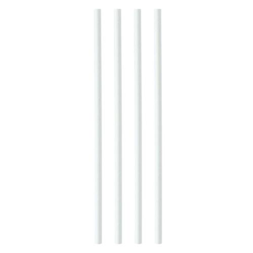 Paper Straws 8mmx200mm White [Pack 250]