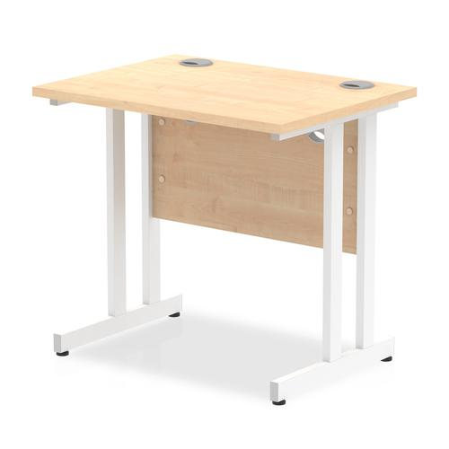 Trexus Desk Rectangle Cantilever White Leg 800x600mm Maple Ref MI002900