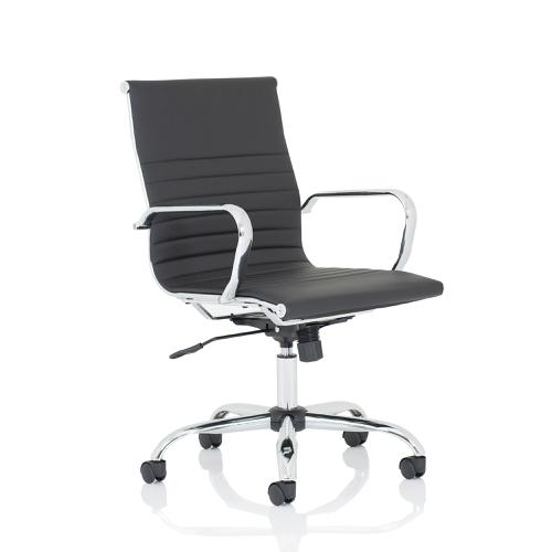 Trexus Nola Medium Executive Chair Bonded Leather Black Ref OP000225