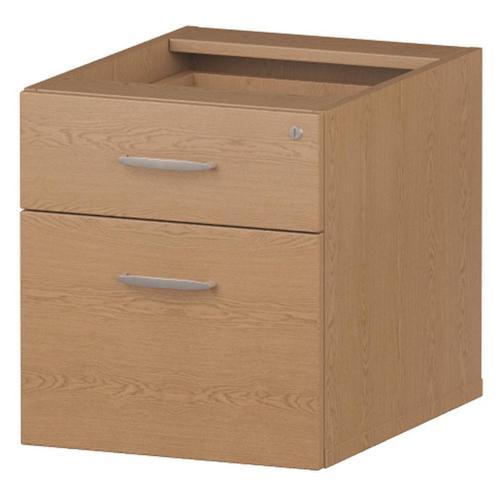 Trexus 2 Drawer Fixed Pedestal 426x463x480mm Oak Ref I001638
