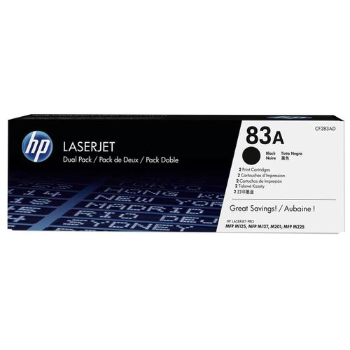HP83A Toner Cartridge Page Life 1500pp Black Ref CF283AD [Pack 2]
