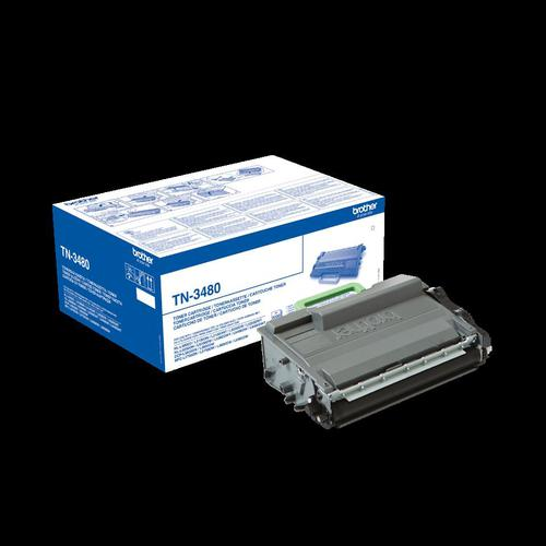 Brother Laser Toner Cartridge High Yield Page Life 8000pp Black Ref TN3480  143837