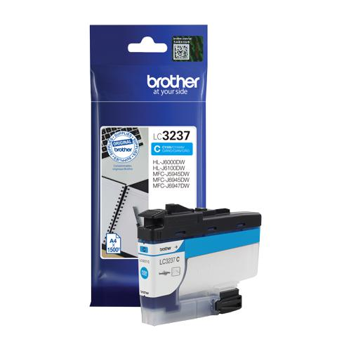 Brother LC3237C Ink Cartridge Page Life 1500pp Cyan Ref LC3237C