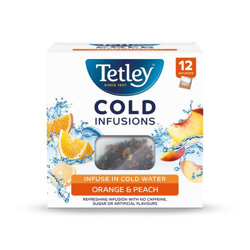 Tetley Cold Infusions Peach & Orange Ref 1601A  [Pack 12]