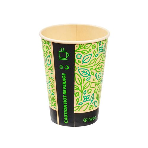 Ingeo Ultimate Eco Bamboo 12oz Biodegradable Disposable Cups Ref 0511224 [Pack 25]