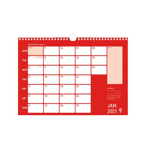 Collins Colplan 2021 Colplan Memo Calendar Month to View Landscape 297x420mm Assorted Ref CMC 2021