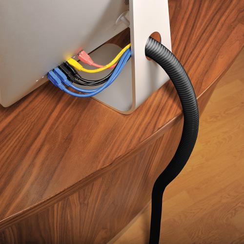 D-Line Cable Management Desk Kit Small Black Ref CTDKSMLB