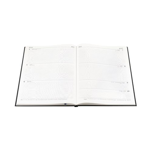 5 Star Office 2022 Diary Week to View Casebound and Sewn Vinyl Coated Board A4 297x210mm Blue