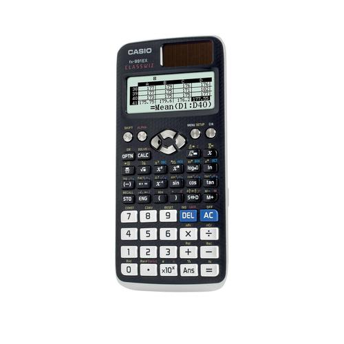 Casio Scientific Calculator Natural Display 552 Functions 77x11x165mm Graphite Ref FX-991EX