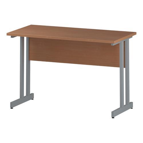 Trexus Rectangular Slim Desk Silver Cantilever Leg 1200x600mm Beech Ref I001679