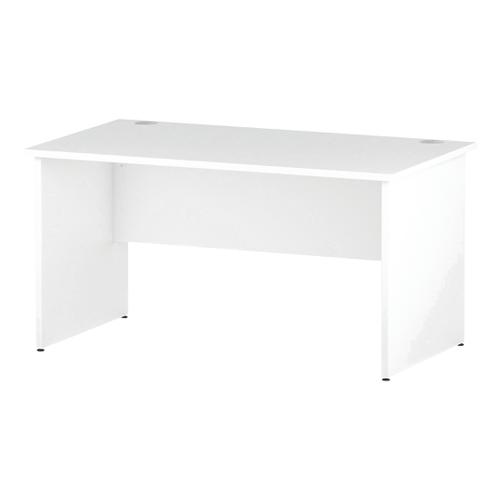 Trexus Rectangular Desk Panel End Leg 1400x800mm White Ref I000394