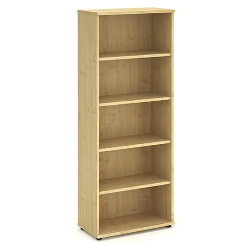 Trexus Office Very High Bookcase 800x400x2000mm 4 Shelves Maple Ref I000232