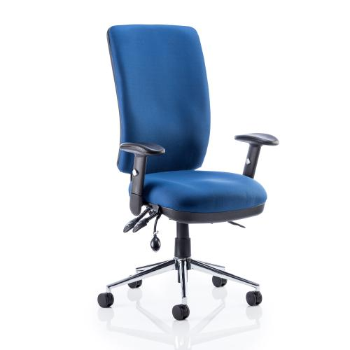 Sonix Support Chiro High Back Chair Blue 510x480-540x500-600mm Ref OP000007