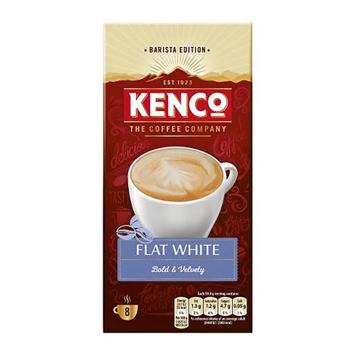 Kenco Flat White Instant Sachet Ref 4041493 [Pack 8 x 5 Boxes]
