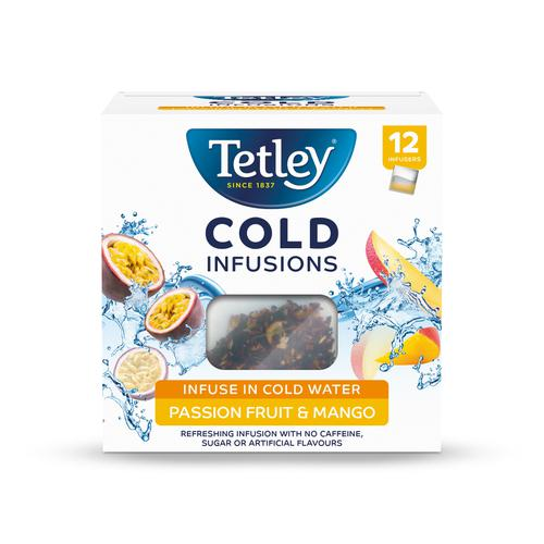 Tetley Cold Infusions Passion Fruits & Mango Ref 1602A  [Pack 12]