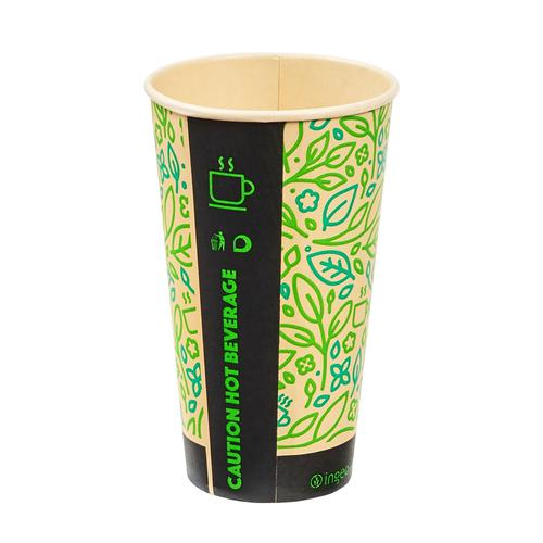 Ingeo Ultimate Eco Bamboo 16oz Biodegradable Disposable Cups Ref 0511225 [Pack 25]