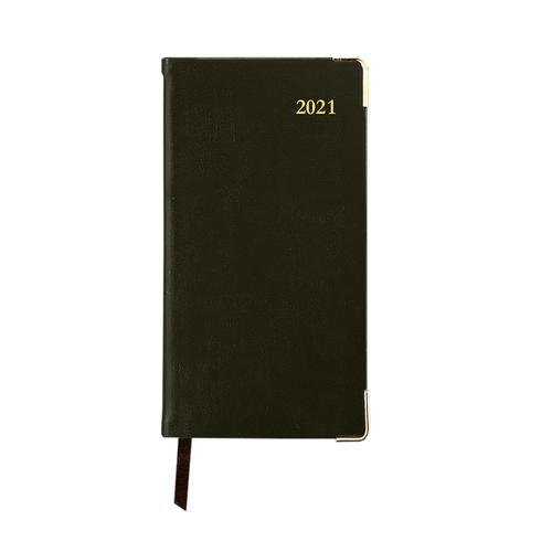 Collins 2021 Classic Pocket Diary Week to View Sewn Binding 80x152mm Black Ref CAPV 2021
