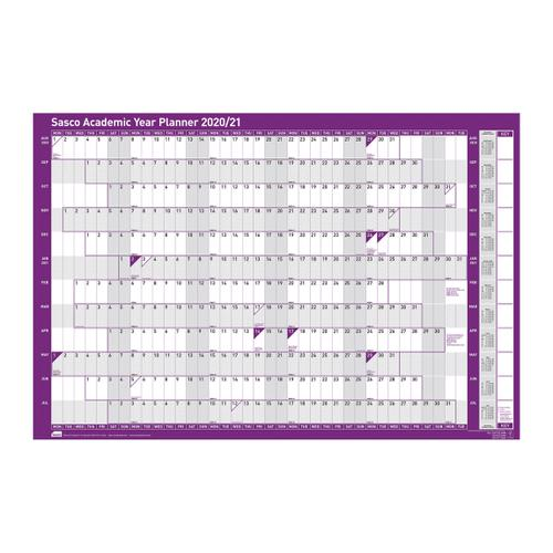 Sasco 2020/21 Academic Year Planner Mounted Ref 2410112