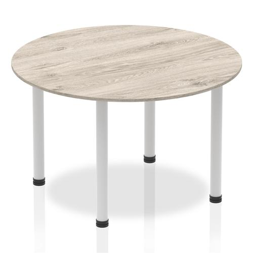 Trexus Meeting Table Round 1200mm Grey Oak Ref I003257
