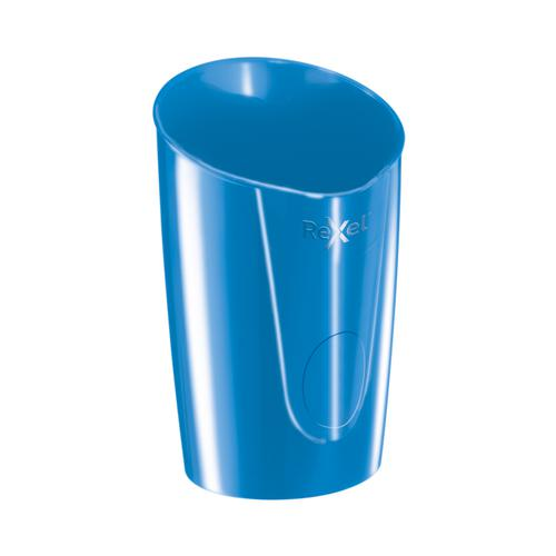 Rexel Choices Pen Pot 90x90x124mm Blue Ref 2115615