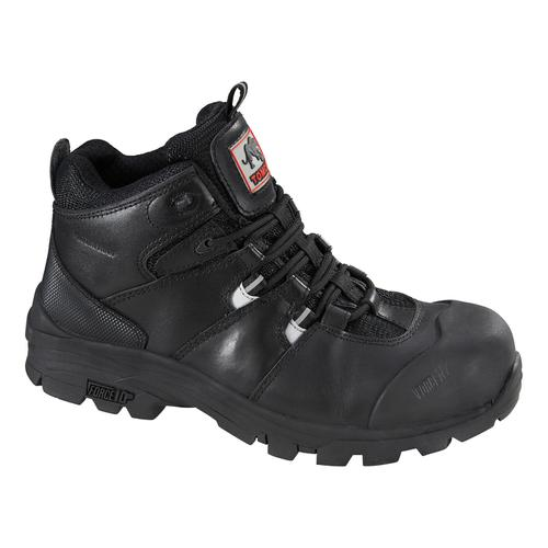 Rockfall Peakmoor Hiker Boot 100% Non-Metallic F/Glass Toecap Size 10 Blk Ref TC4200-10 *5-7 Day L/Time*