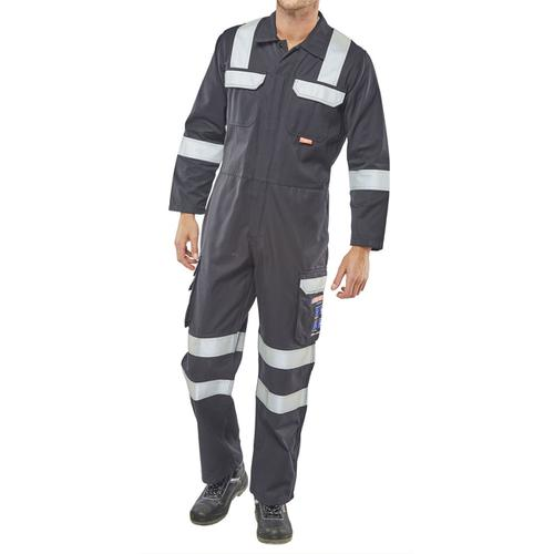 Click Arc Flash Coveralls Size 40 Navy Blue Ref CARC6N40 *Up to 3 Day Leadtime*